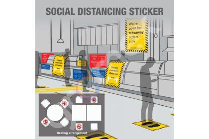 COVID-19 SOP Sticker Caution Stripes