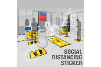 COVID-19 SOP Sticker Protect Staff & Customer