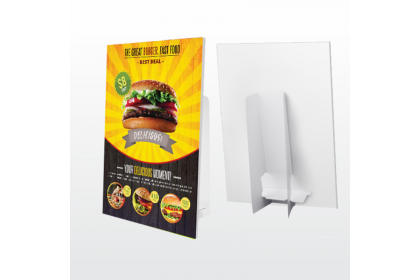 3M White Graphic Film with 5mm Foam Board - Counter Display Stand
