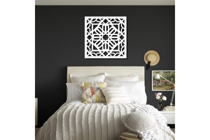 3D Islamic Pattern Cut Out Wall Art Geometry Pattern Kerawang Wall Deco Panel 2