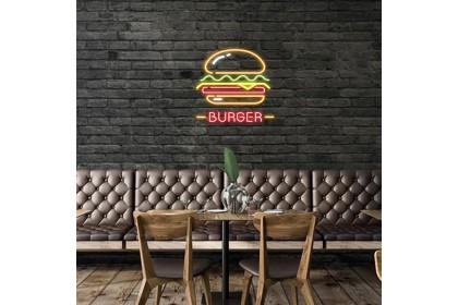 Plug & Play Neon Sign - Burger Stall Sign