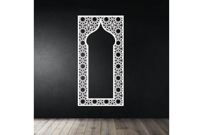3D Islamic Pattern Cut Out Wall Art Kubah Mihrab Kerawang Islamic Dekorasi Dinding (f)