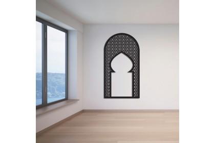 3D Islamic Pattern Cut Out Wall Art Kubah Mihrab Kerawang Islamic Dekorasi Dinding(i)