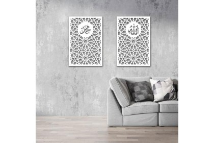 3D Islamic Pattern Cut Out Wall Art Kubah Mihrab Kerawang Islamic Dekorasi Dinding Dekorasi rumah