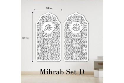 3D Islamic Pattern Cut Out Wall Art Double panel Kubah Mihrab Kerawang Islamic Dekorasi Dinding Dekorasi rumah