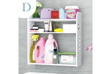 Bathroom toilet waterproof wall hanging storage rack shampoo laundry detergent cosmetic shelf organizer space saver