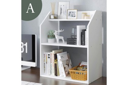 Corner table bookshelf tabletop storage rack student desktop book accessories storage rack simple white ins style rack