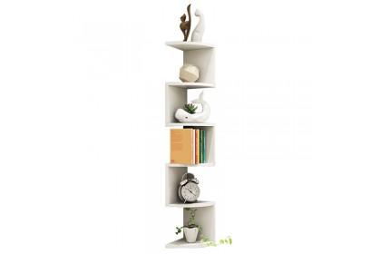 Corner wall hanging bookshelf bedroom space saver storage rack living room corner decorative storage rack shelf