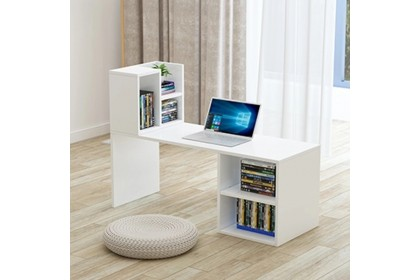 Balcony floating window table small tea table with storage space living room bedroom working table simple ins style